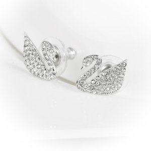 SWAROVSKI SWAN stud earrings